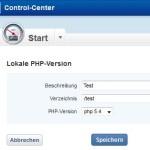 """1&1 Finger weg von der Einstellung """"Lokale PHP Version"""""""