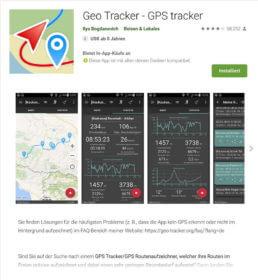 App Geo Tracker im Einsatz zum Geotagging