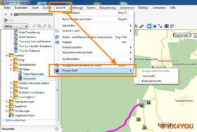BaseCamp in Kartenansicht Google Earth -Aufruf der Kartendarstellung