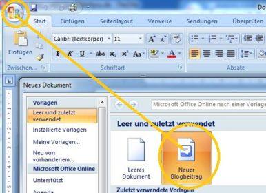 Start MS Word 2007