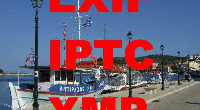 Metadaten EXIF, IPTC, XMP