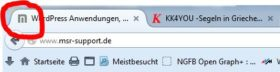 Website-Icon als Favicon (Browser-Tab)