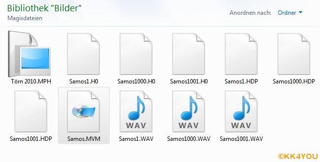 WAV Dateien der Kommentare im ausgewählten Ordner