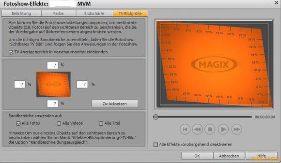 Magix -TV Bildgröße ermitteln