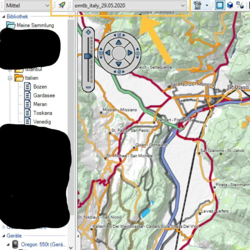 Aktivierung der Karte in BaseCamp