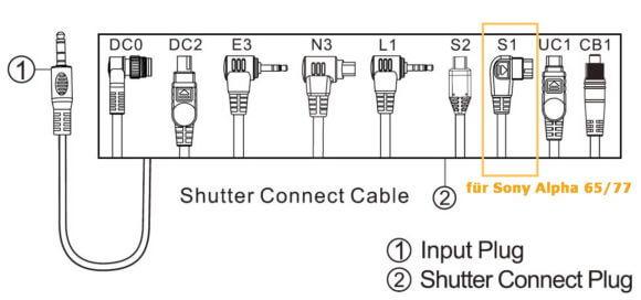Remote Control TW-283 -Receiver Anschluß Kabel zur Anpassung an verschiedene Kameras