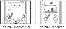 Ein / Ausschalten von Sender und Empfänger