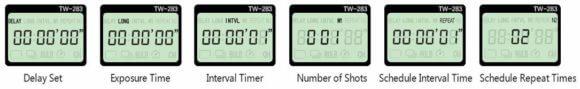 Remote Control TW-283 -Sequenzen der Timer Aufnahme
