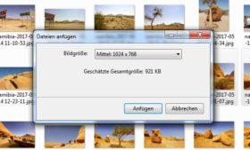 Fotos per E-Mail versenden: Senden an E-Mail-Empfänger