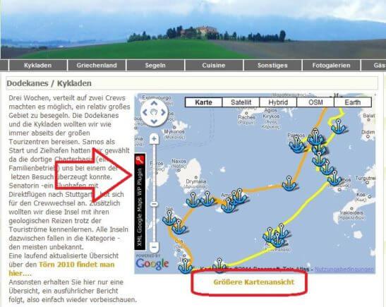 Kartendarstellung mit Plug-In XML Google Maps
